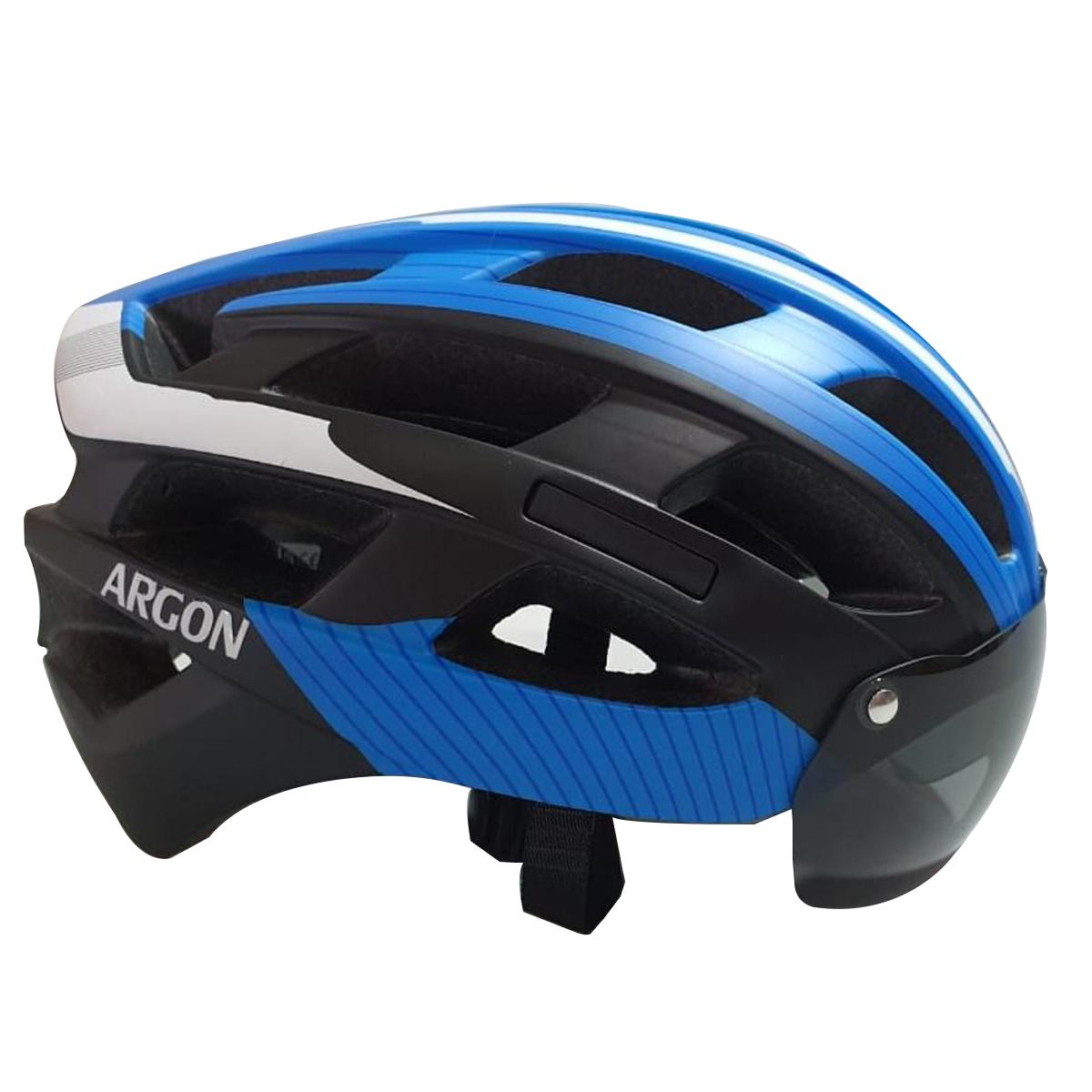 Capacete Argon TT 22 Ciclismo Mtb C/ Óculos Magnético S/ Led