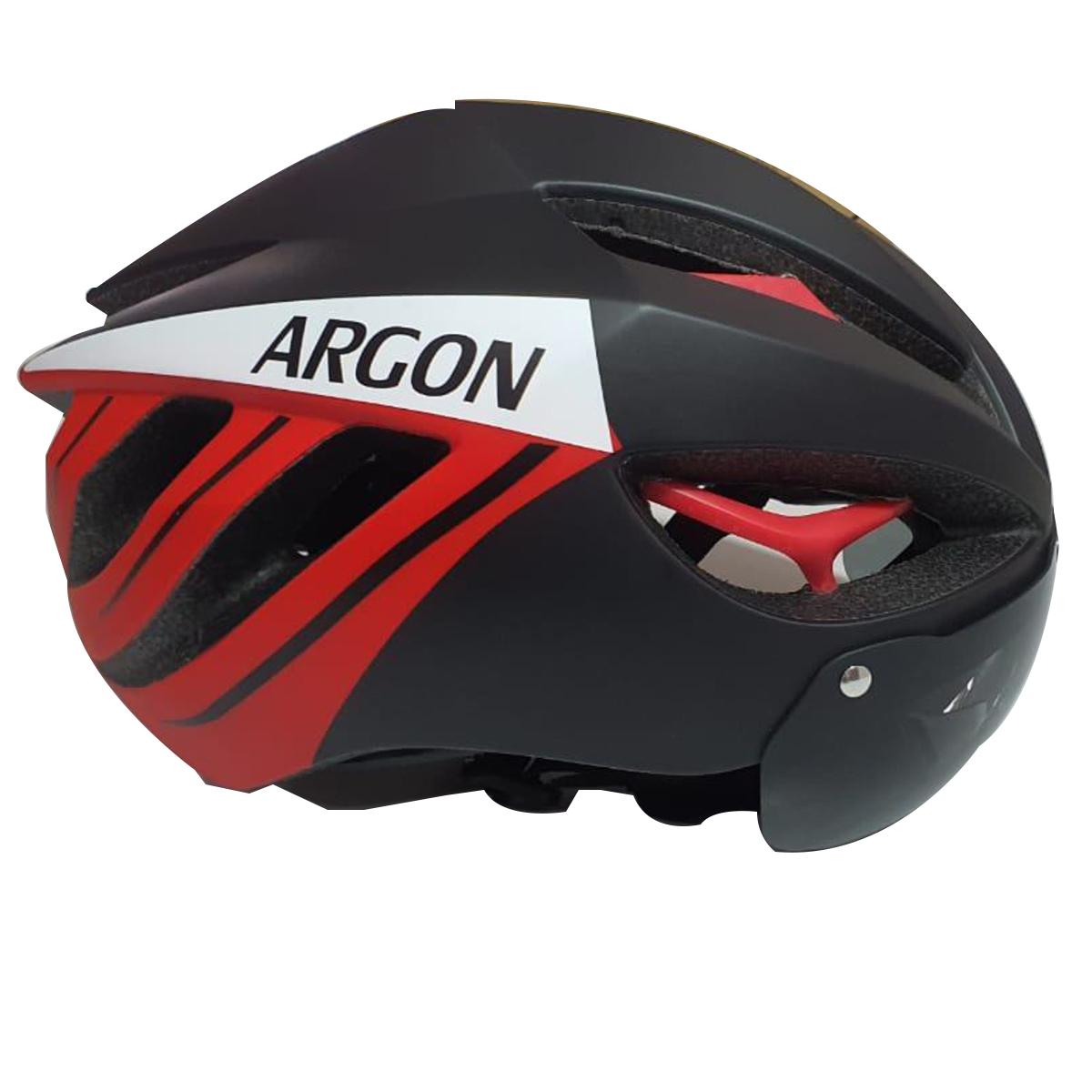 Capacete Argon TT 7 Ciclismo Mtb C/ Óculos Magnético S/ Led
