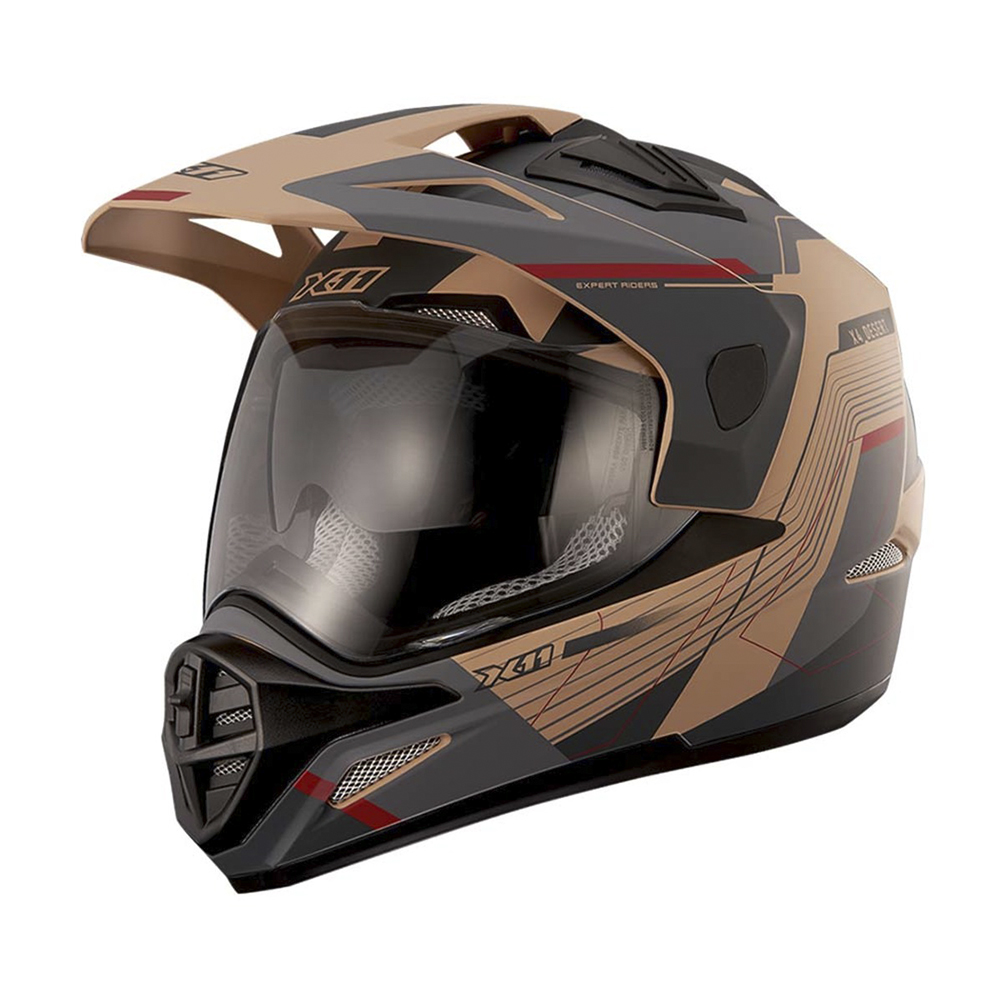 Capacete Moto X11 Crossover Desert Viseira Solar Motoqueiro