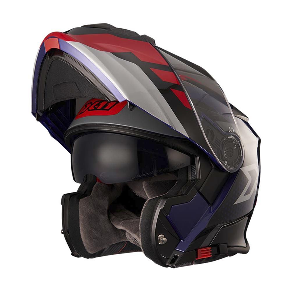 Capacete Moto X11 Turner Prisma Escamoteavel Viseira Solar