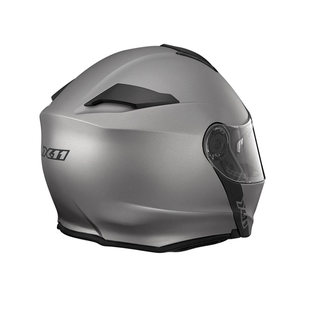 Capacete Moto X11 Turner Solides Escamoteavel Viseira Solar