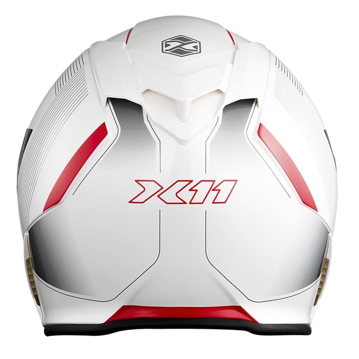 Capacete X11 Revo SV Integral Moto Motociclista Branco