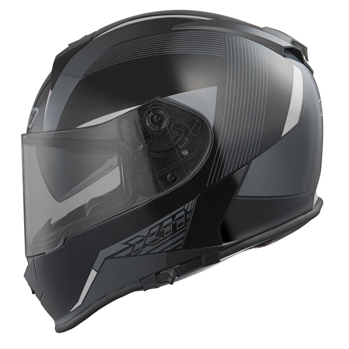 Capacete X11 Revo SV Integral Moto Motociclista Cinza