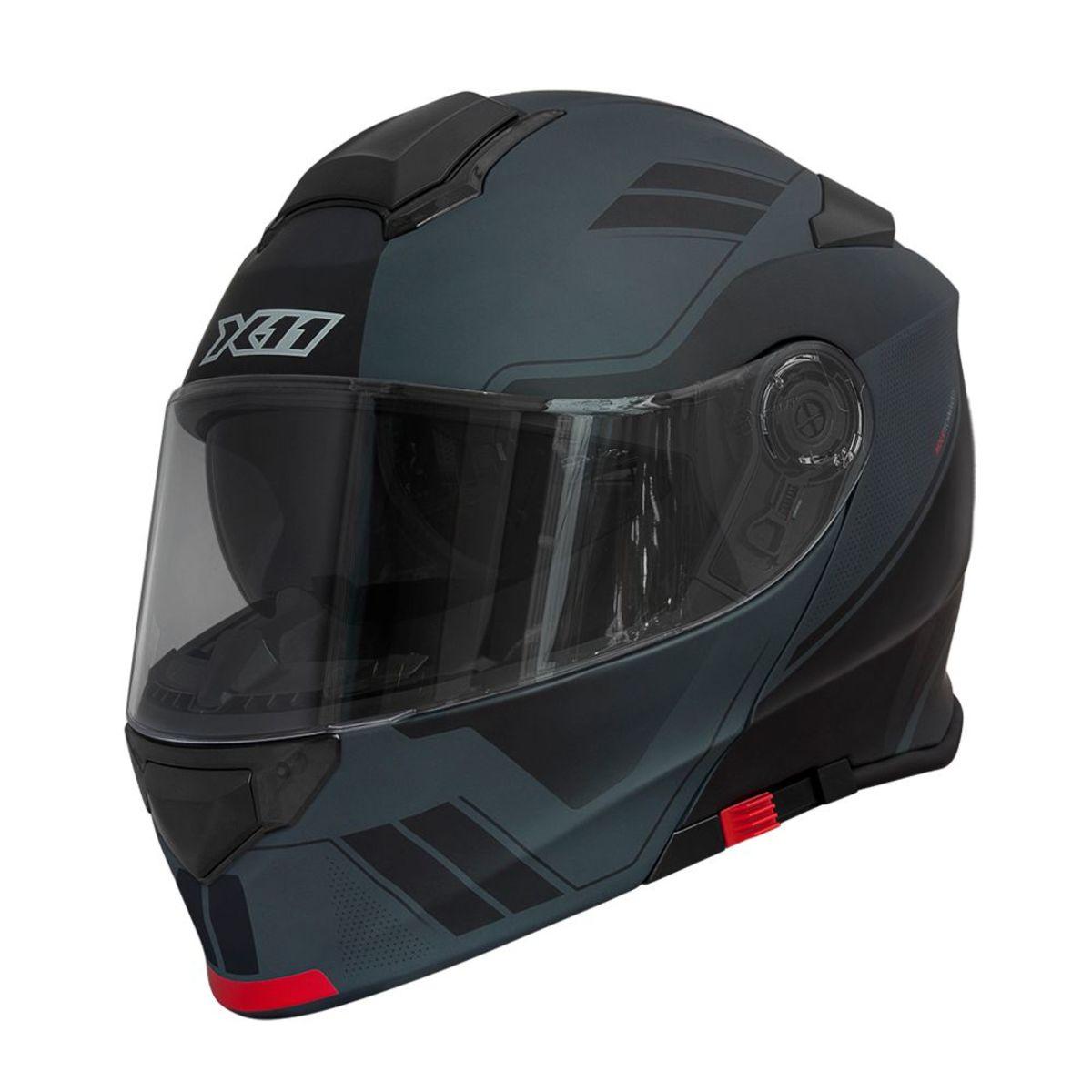 Capacete X11 Turner Trooper Escamoteavel Moto Preto