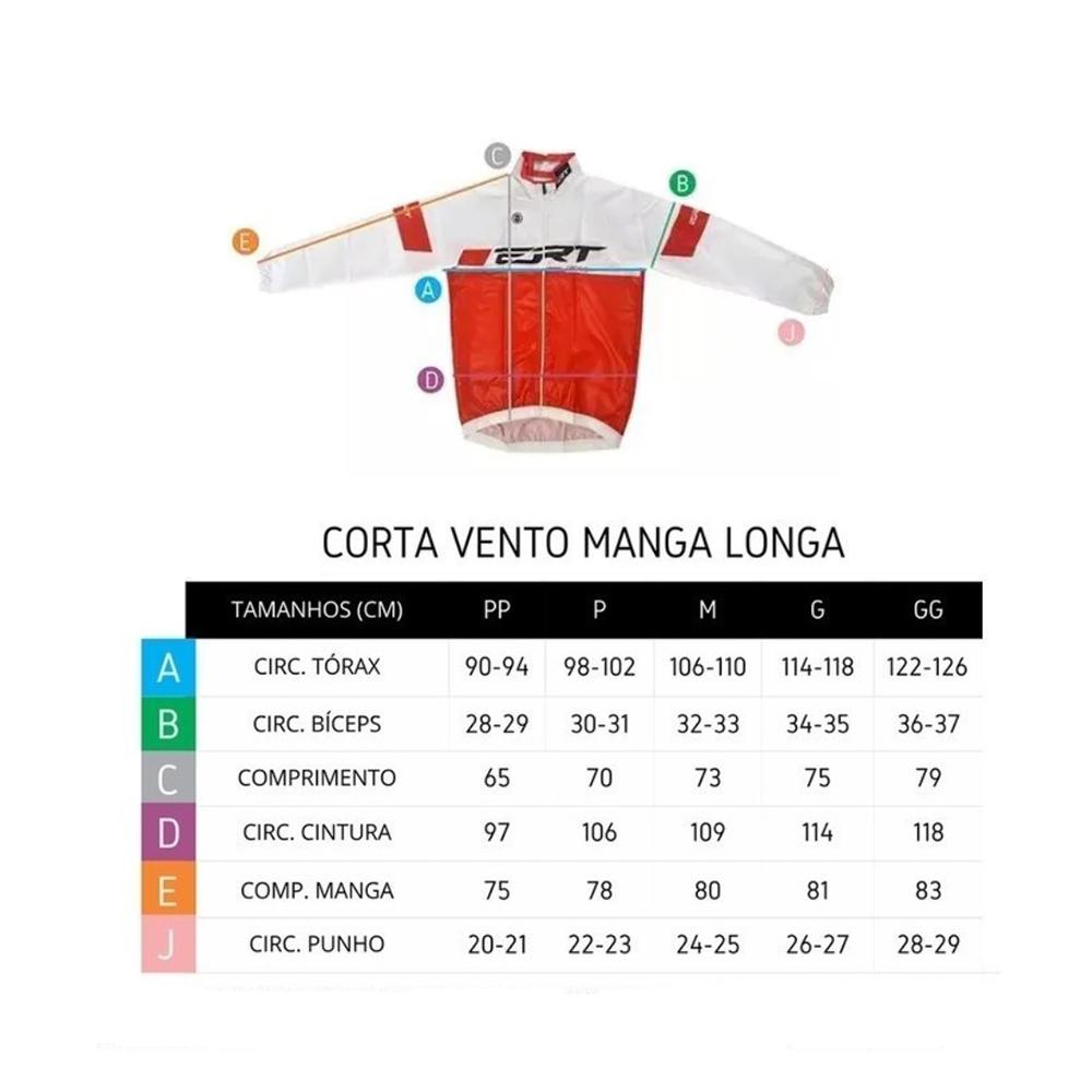 Corta Vento Ert Sense ML On Off Ciclismo Mtb Preto 1.0