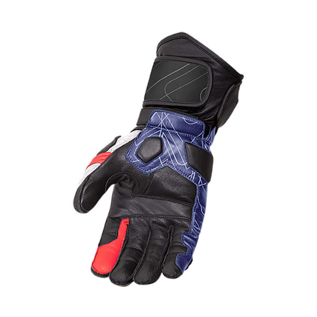 Luva X11 Racer 2 Motociclista Moto Proteção Branco