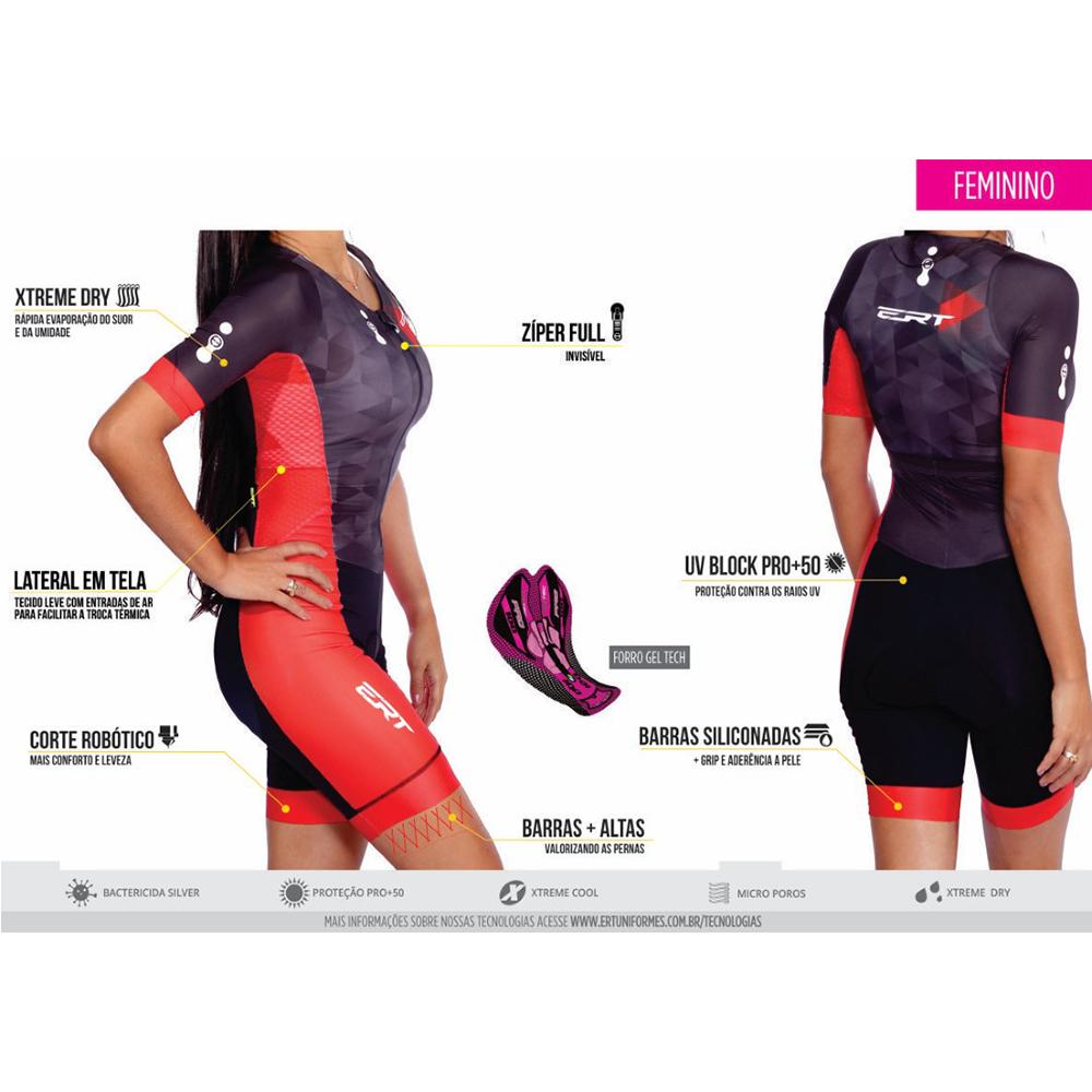 Macaquinho Ciclismo Feminino Ert Elite Pink Power Ciclista