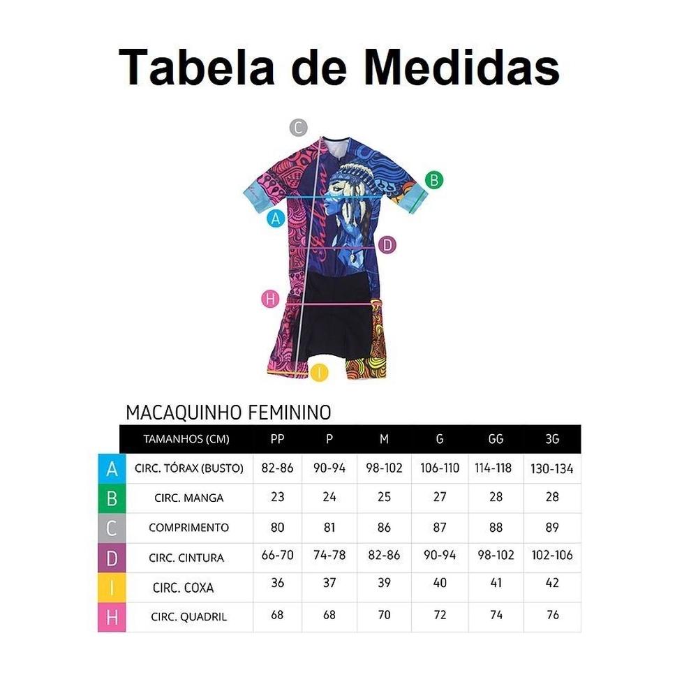Macaquinho Ciclismo Feminino Ert New Elite Concept Ciclista