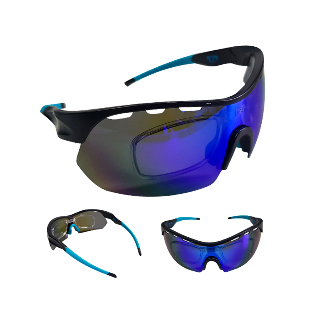 Óculos Ciclismo Mtb Jet Adventure Apache Polarizada Azul