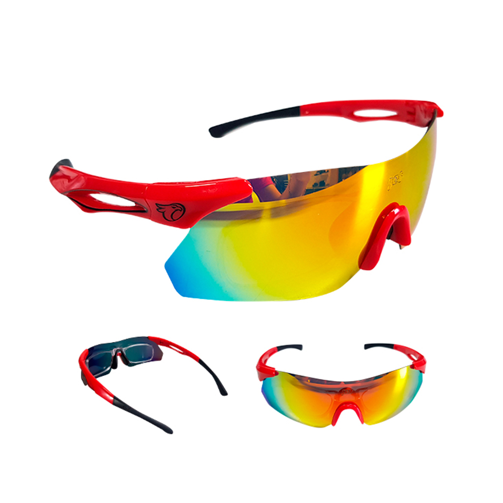 Óculos Ciclismo Mtb Jet Adventure Dragon Polarizada Vermelho