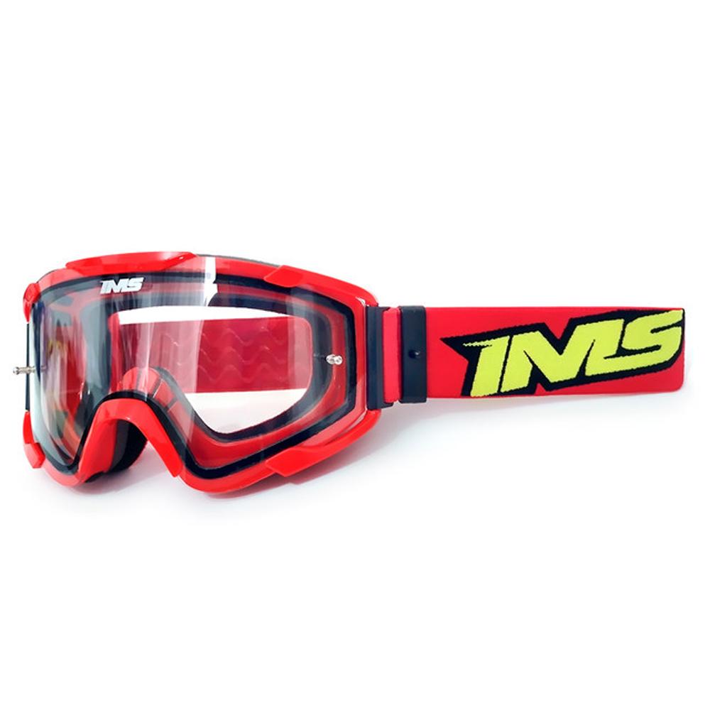 Óculos Motocross Ims Army Trilha Offroad Anti Risco Vermelho
