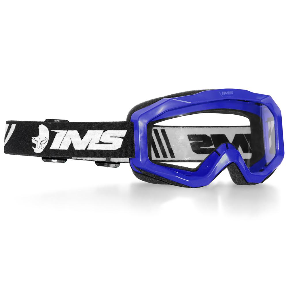 Óculos Motocross Ims Light Trilha Offroad Anti Risco Azul