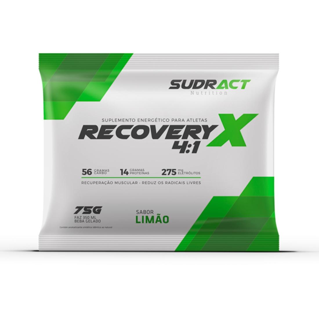 Suplemento Energético Sudract Recovery X 4:1 75g - C/10 UN
