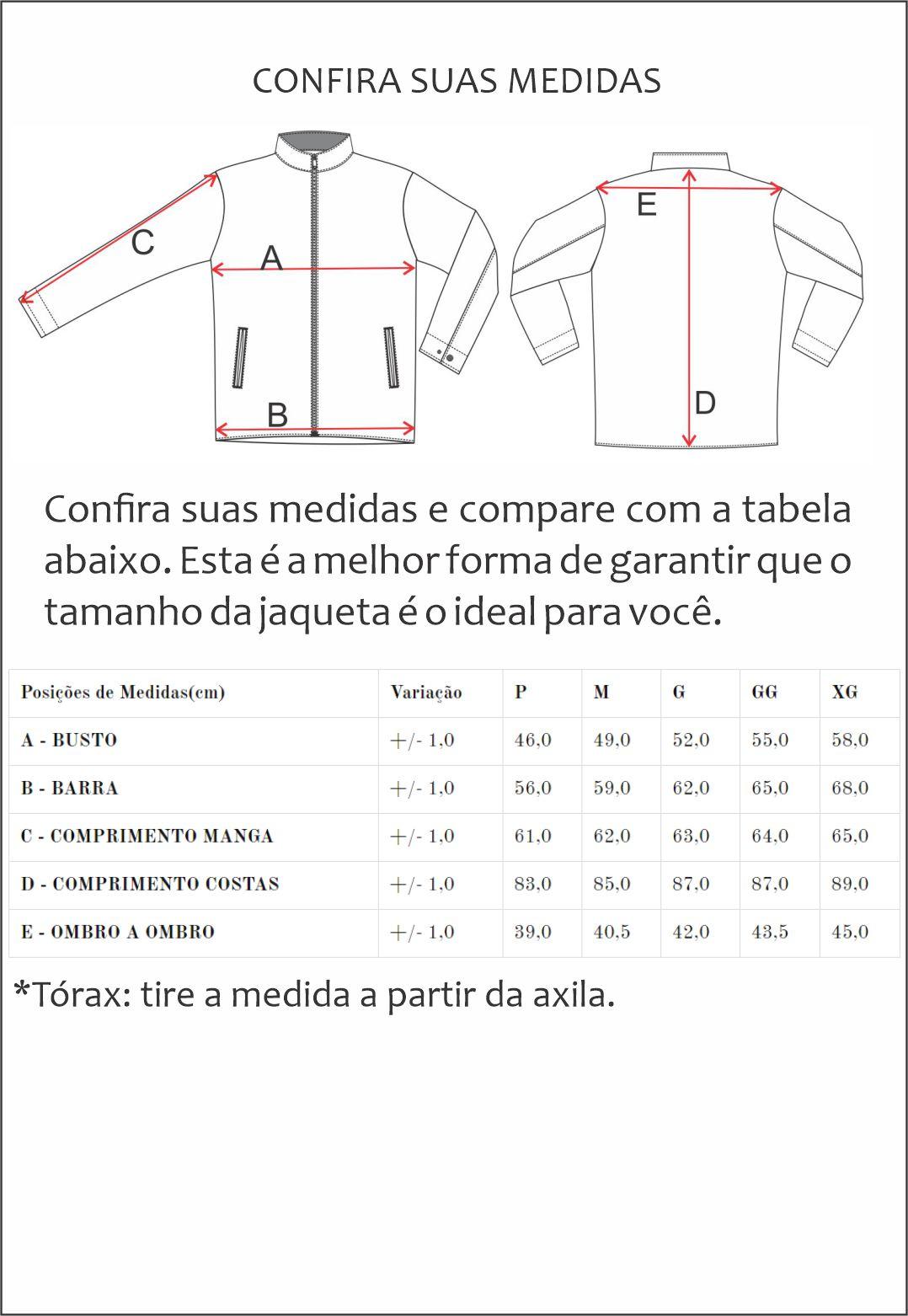 Jaqueta de Nylon Jack 3217 Capa Cinza