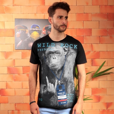 Camiseta Derek Ho Rock Festival Preta
