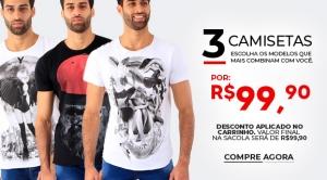 3 Camisetas Derek-ho
