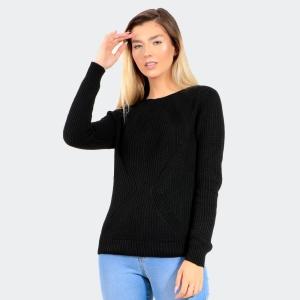 Blusa Tricot de Lã Feminina Preta