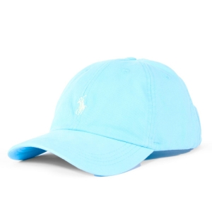 Boné Ralph Lauren Azul Claro Com Logo Verde Claro
