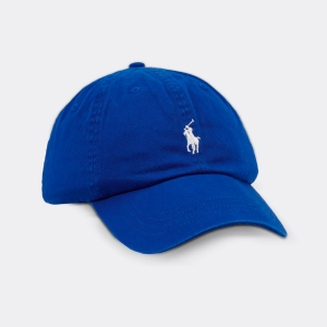 Boné Ralph Lauren Azul Royal Com Logo Branco