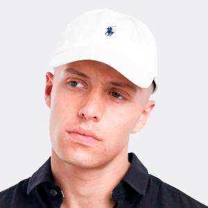Boné Ralph Lauren Branco com Logo Marinho