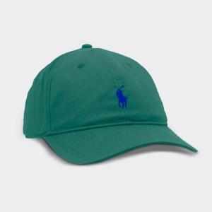 Boné Ralph Lauren Verde com Logo Azul
