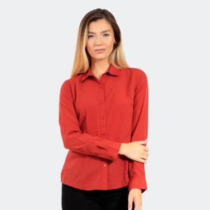 Camisa Alírio Feminina Básica Terracota