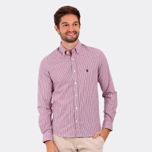 Camisa Ralph Lauren Custom Fit Xadrez Tartan Rosa