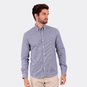 Camisa Ralph Lauren Custom Fit Xadrez Vichy Marinho