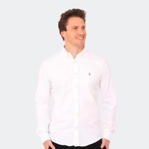 Camisa Ralph Lauren Oxford Manga Longa Branca