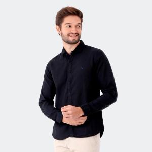 Camisa Yacht Master Slim Fit Preta