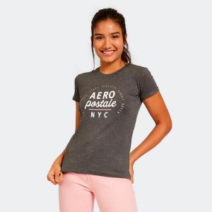 Camiseta Aéropostale Feminina NYC Mescla Escuro