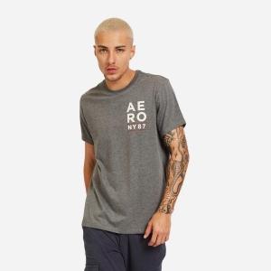 Camiseta Aéropostale Masculina Aéro NY 87 Mescla Escuro