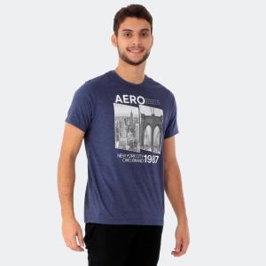Camiseta Aéropostale Masculina New York City Marinho