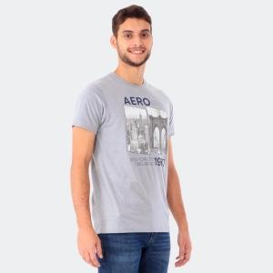 Camiseta Aéropostale Masculina New York City Mescla Médio