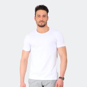 Camiseta Basica Masculina Disky Invert Branca