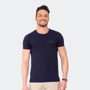 Camiseta Basica Masculina Disky Invert Marinho