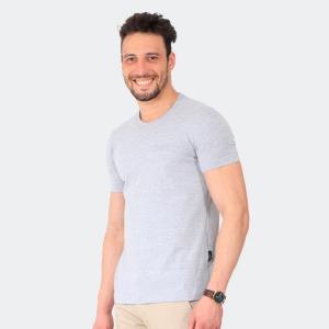 Camiseta Basica Masculina Disky Invert Mescla Cinza