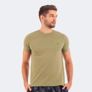 Camiseta Básica Mescla Musgo - Disky