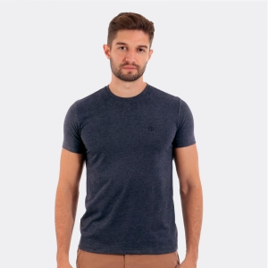 Camiseta Disky Basica Mescla Marinho