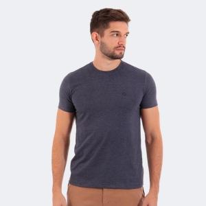 Camiseta Disky Basica Mescla Preta