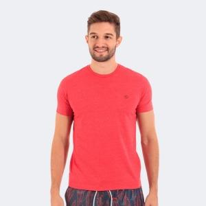 Camiseta Disky Basica Mescla Vermelha