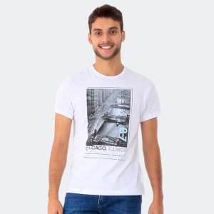Camiseta Masculina Aéro 87 Chicago Branca