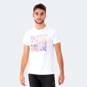 Camiseta Masculina Aéro Cityscape Branca
