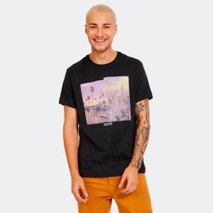 Camiseta Masculina Aéro Cityscape Preta