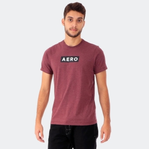 Camiseta Masculina Aéro Mescla Bordô