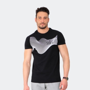 Camiseta Masculina Disky Abstrato Preta
