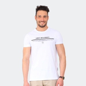 Camiseta Masculina Disky Connect Branca