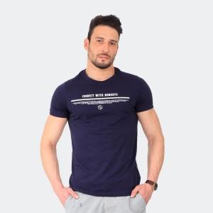 Camiseta Masculina Disky Connect Marinho
