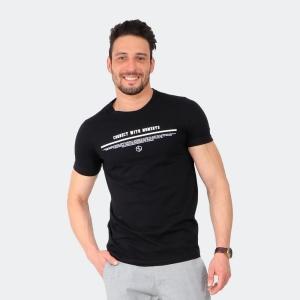 Camiseta Masculina Disky Connect Preta