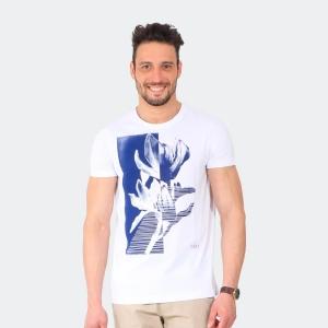 Camiseta Masculina Disky Flower Branca